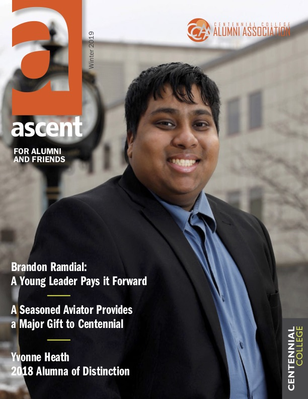 The cover of the winter issue of Ascent Magazine