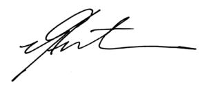 Signature of CCAA Alumni President, Alvin Guthrie