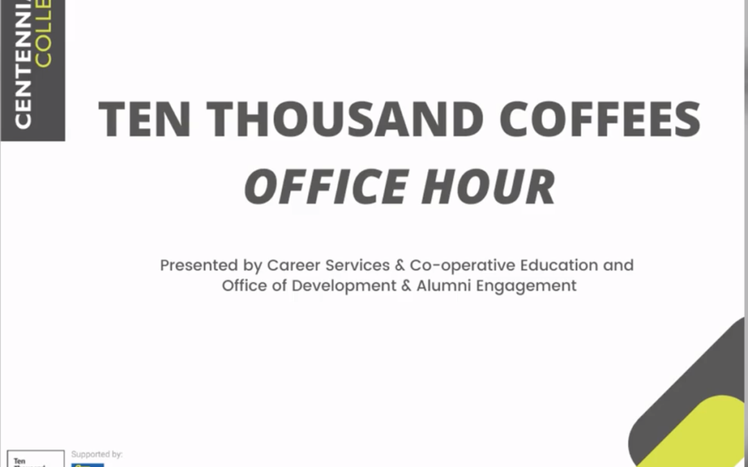Ten Thousand Coffees Webinar